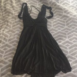 3/$20 XS black formal tulle/chiffon sparkly LBD